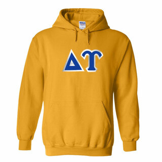 Delta Upsilon Discount Twill Athletic Gold Hooded Sweatshirt