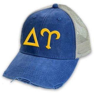 Delta Upsilon Distressed Trucker Hat