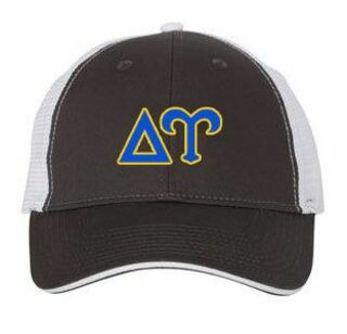 Delta Upsilon Double Greek Trucker Cap