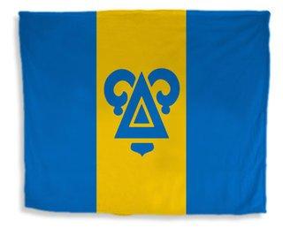Delta Upsilon Flag Giant Velveteen Blanket