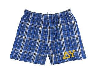Delta Upsilon Flannel Boxer Shorts