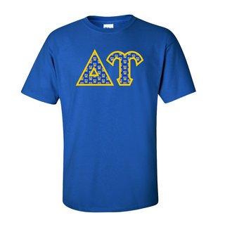 Delta Upsilon Fraternity Crest - Shield Twill Letter Tee