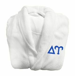 Delta Upsilon Fraternity Lettered Bathrobe