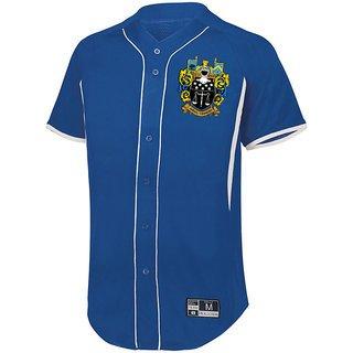Delta Upsilon Game 7 Full-Button Baseball Jersey