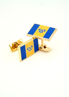 Delta Upsilon Gold Plated Flag Cufflinks