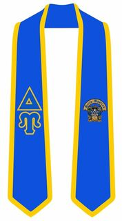 Delta Upsilon Greek 2 Tone Lettered Graduation Sash Stole