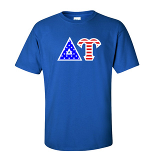 Delta Upsilon Greek Letter American Flag Tee
