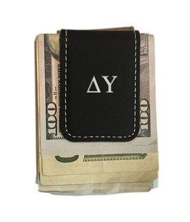 Delta Upsilon Greek Letter Leatherette Money Clip