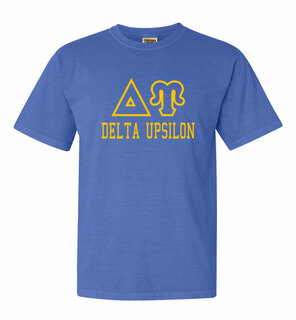 Delta Upsilon Greek Outline Comfort Colors Heavyweight T-Shirt