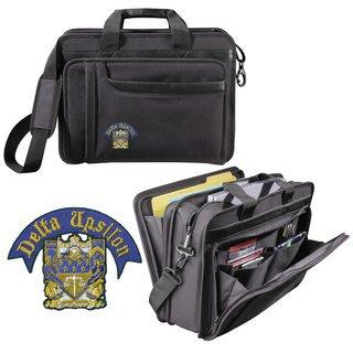 Delta Upsilon Crest Briefcase Attache