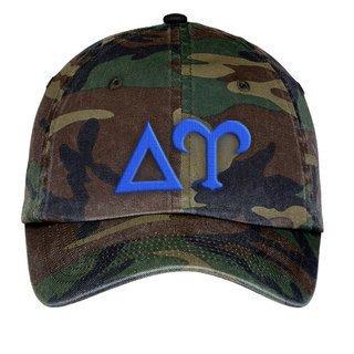 Delta Upsilon Lettered Camouflage Hat