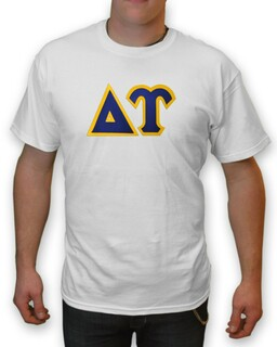 Delta Upsilon Lettered T-Shirt