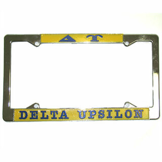 Delta Upsilon License Plate Frame