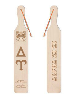 Delta Upsilon Old School Wood Greek Paddle