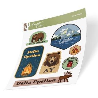 Delta Upsilon Outdoor Sticker Sheet