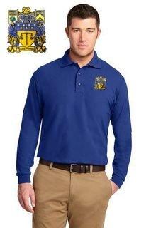 DISCOUNT-Delta Upsilon Emblem Long Sleeve Polo