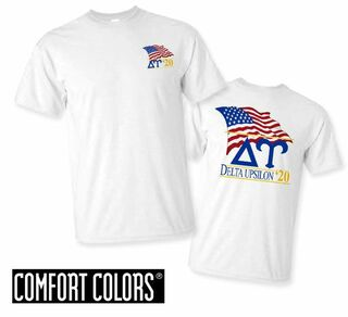 Delta Upsilon Patriot  Limited Edition Tee - Comfort Colors
