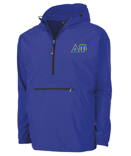 Delta Upsilon Tackle Twill Lettered Pack N Go Pullover