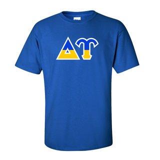 Delta Upsilon Two Tone Greek Lettered T-Shirt