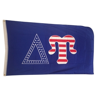Delta Upsilon USA Greek Letter Flag