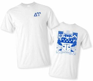 Delta Upsilon World Famous Crest - Shield Tee