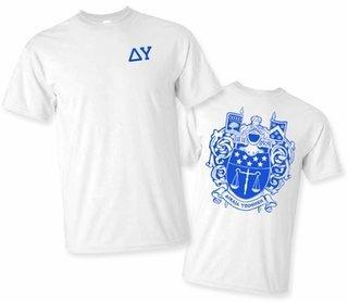 Delta Upsilon World Famous Greek Crest T-Shirts - MADE FAST!