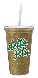 Delta Zeta 16 OZ Sorority Newport Glitter Tumbler