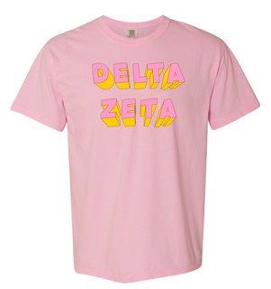 Delta Zeta 3Delightful Tee - Comfort Colors