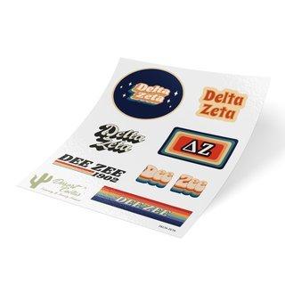 Delta Zeta 70's Sticker Sheet