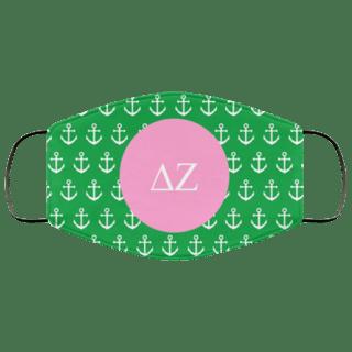 Delta Zeta Anchors Face Mask