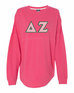 DISCOUNT-Delta Zeta Athena French Terry Dolman Sleeve Sweatshirt