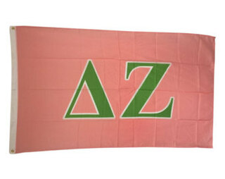 Delta Zeta Big Greek Letter Flag