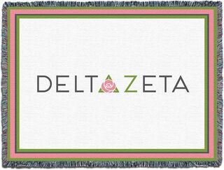 Delta Zeta Blanket Throw