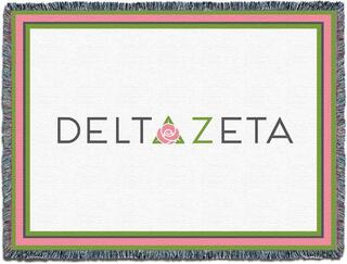 Delta Zeta Blanket Throw