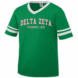 Delta Zeta Boyfriend Style Founders Jersey