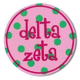 "Delta Zeta Bumper Stickers 4"" Round"