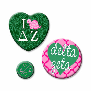 Delta Zeta Button Set