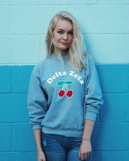 Delta Zeta Cherry Hearts Crew