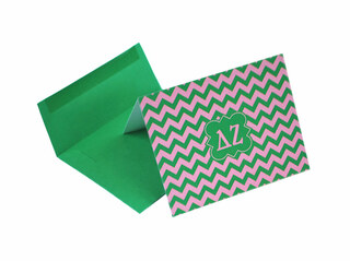Delta Zeta Chevron Note Cards w/ Envelopes (10)