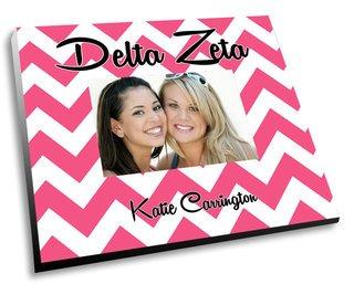 Delta Zeta Chevron Picture Frame