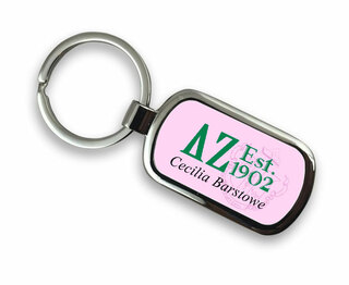 Delta Zeta Chrome Crest - Shield Key Chain