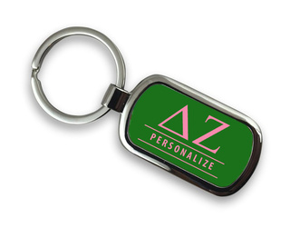 Delta Zeta Chrome Custom Keychain