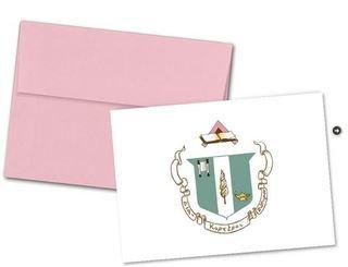 Delta Zeta Color Crest - Shield Notecards(6)