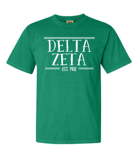 Delta Zeta Comfort Colors Custom Heavyweight T-Shirt