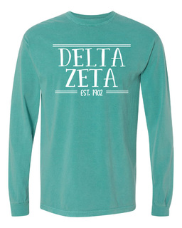 Delta Zeta Comfort Colors Custom Long Sleeve T-Shirt