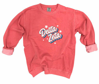Delta Zeta Comfort Colors Flashback Crew