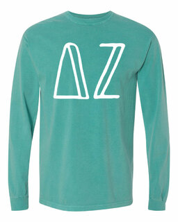Delta Zeta Comfort Colors Greek Long Sleeve T-Shirt