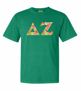 Delta Zeta Comfort Colors Lettered Greek Short Sleeve T-Shirt