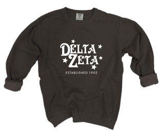 Delta Zeta Comfort Colors Old School Custom Crew