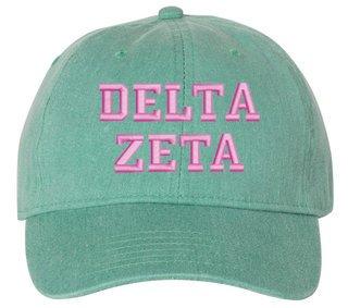 Delta Zeta Comfort Colors Pigment Dyed Baseball Cap